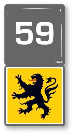 AUTOCOLLANT AUTO 59 (Le Nord)
